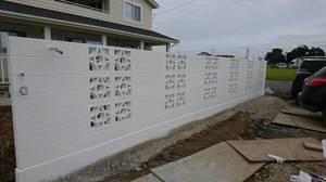 塗装した花ブロック